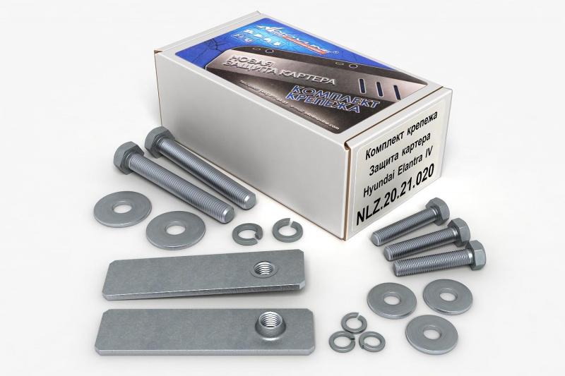 Комплект: защита картера и крепеж Novline-Autofamily KIA Optima 2012: 2,0 бензин АКПП - фото 7