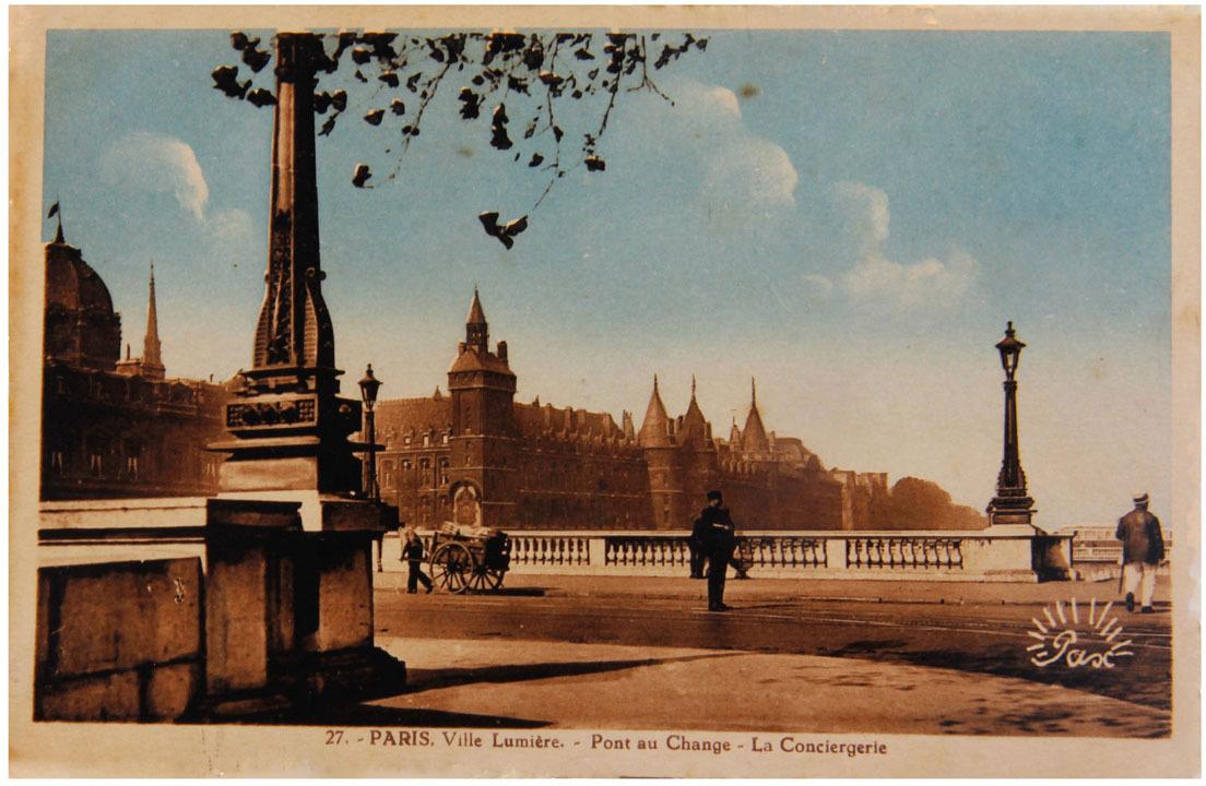 Почтовая открытка франция